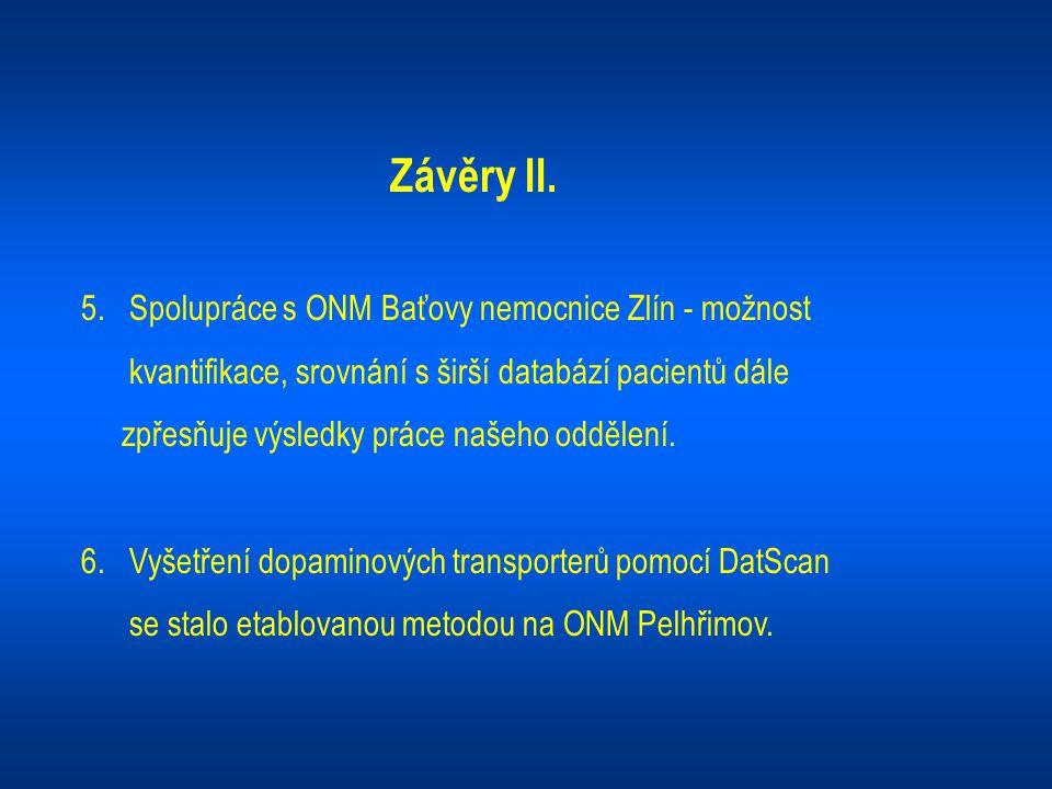 Závěry II. 5. Spolupráce s ONM Baťovy nemocnice Zlín - možnost