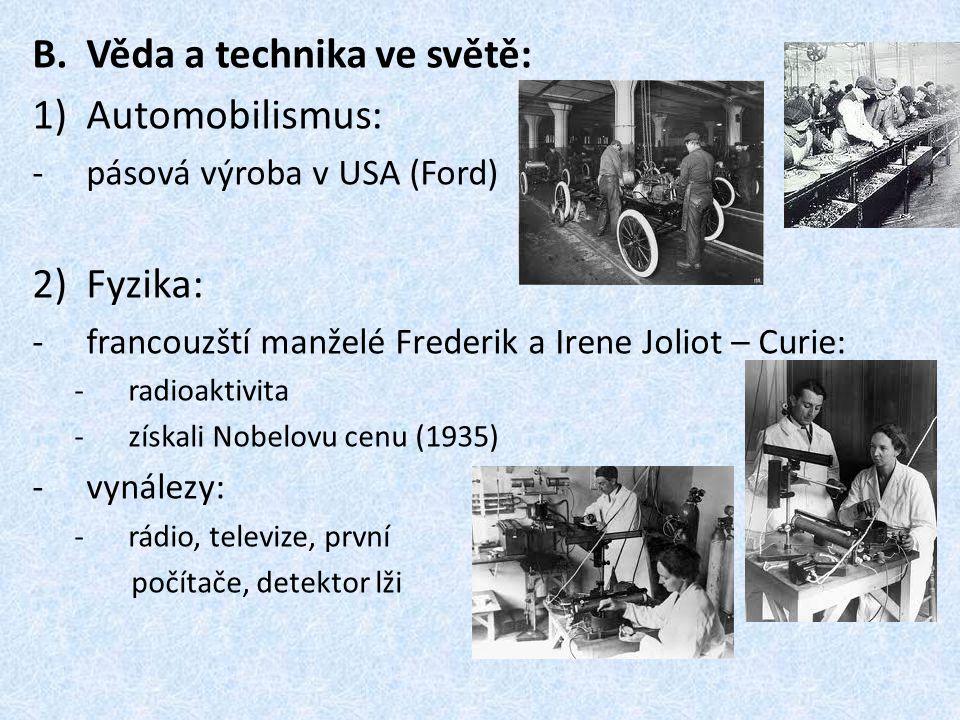 Věda a technika ve světě: Automobilismus: