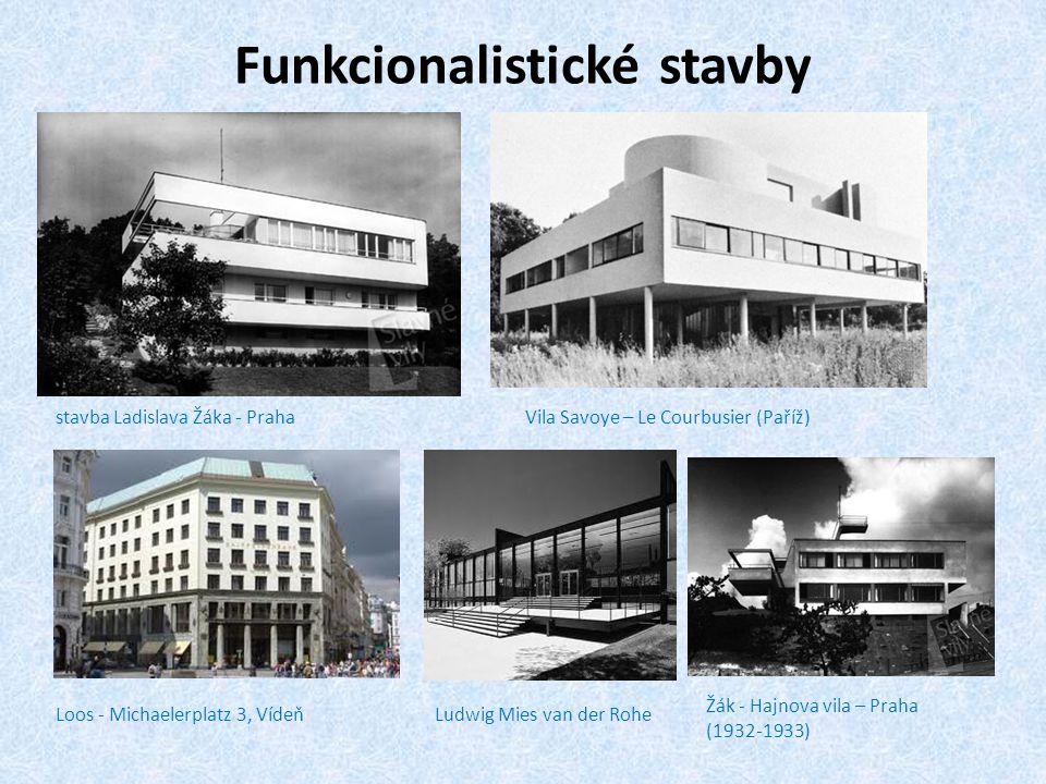 Funkcionalistické stavby