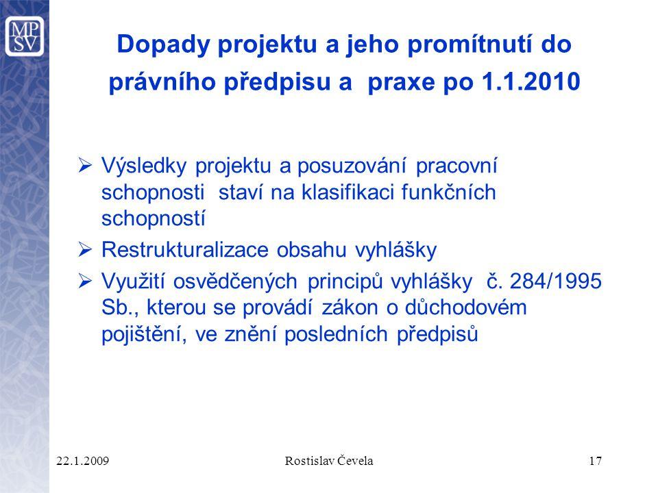 Dopady projektu a jeho promítnutí do právního předpisu a praxe po 1. 1