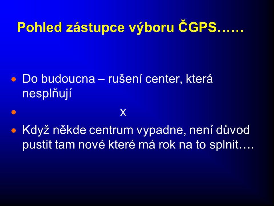 Pohled zástupce výboru ČGPS……