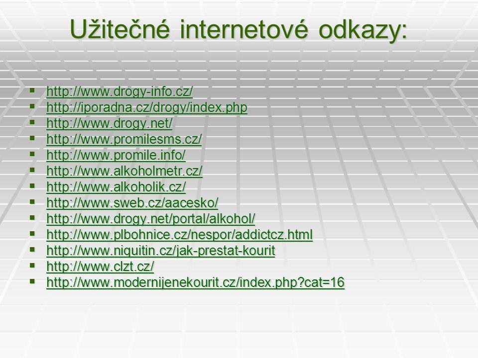 Užitečné internetové odkazy: