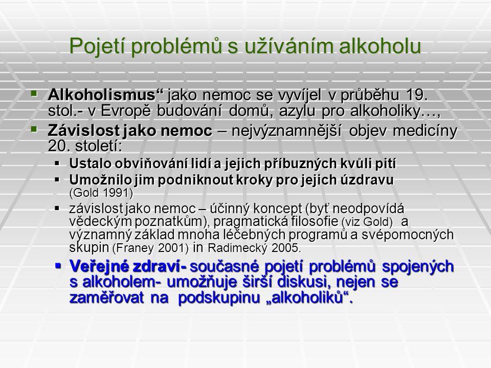 Pojetí problémů s užíváním alkoholu