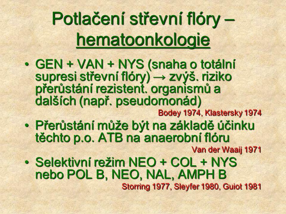 Potlačení střevní flóry – hematoonkologie
