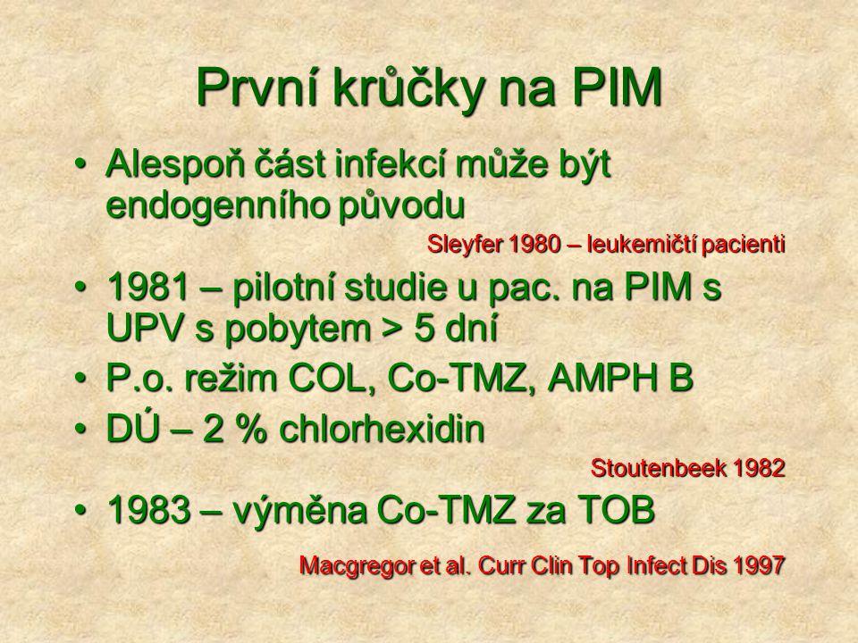 První krůčky na PIM Alespoň část infekcí může být endogenního původu