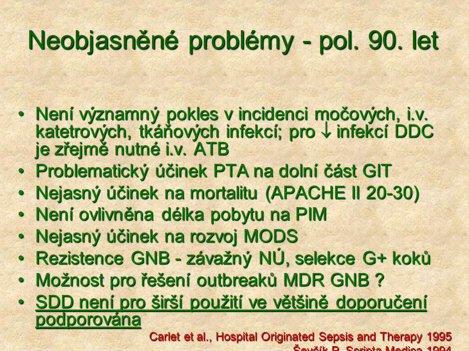 Neobjasněné problémy - pol. 90. let