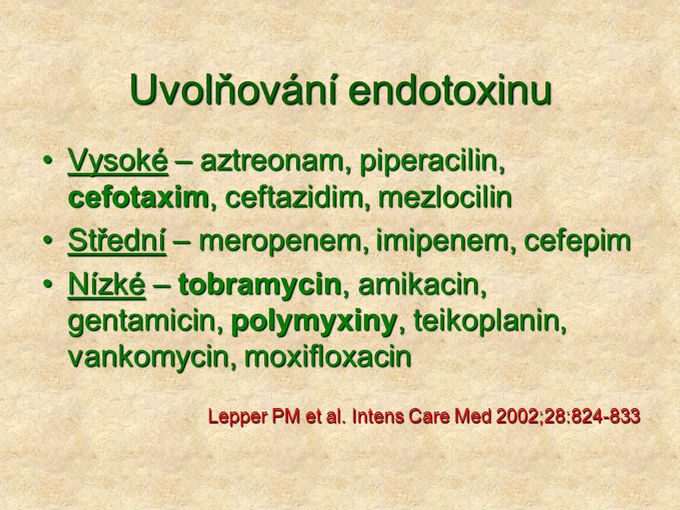 Uvolňování endotoxinu