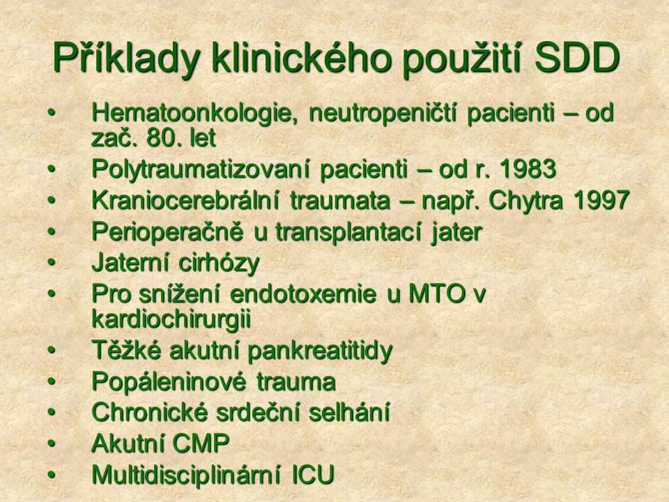 Příklady klinického použití SDD