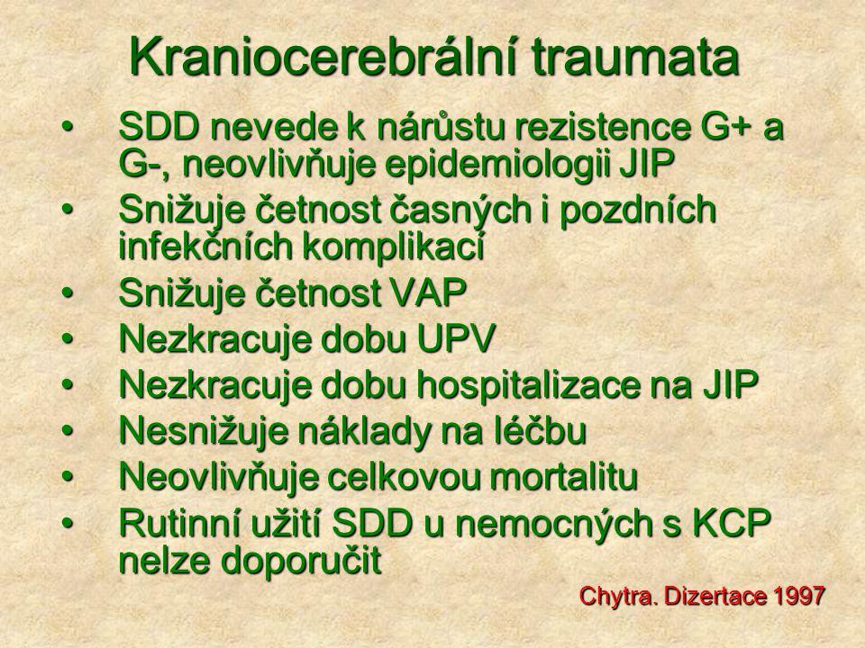 Kraniocerebrální traumata