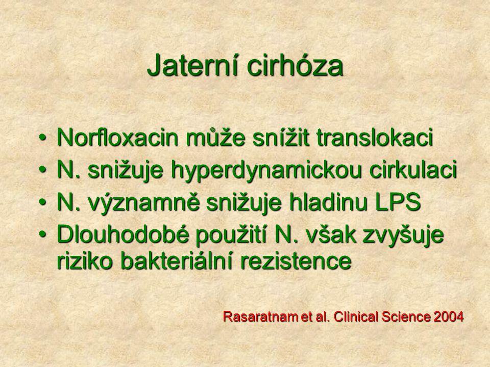 Jaterní cirhóza Norfloxacin může snížit translokaci