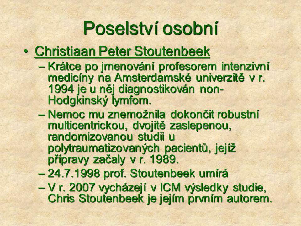 Poselství osobní Christiaan Peter Stoutenbeek