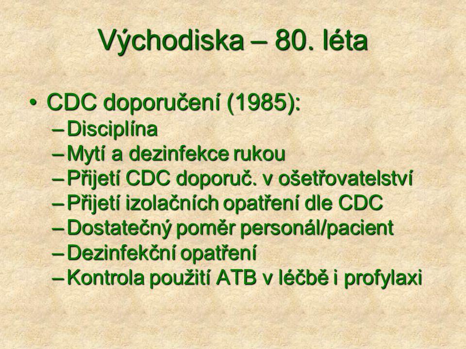Východiska – 80. léta CDC doporučení (1985): Disciplína