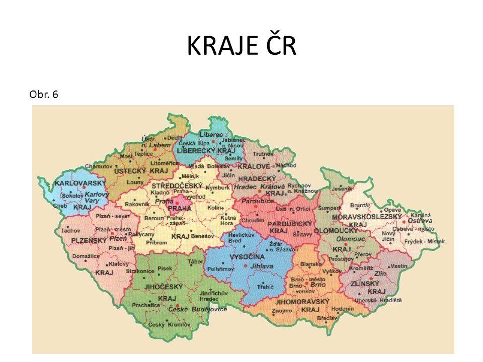 KRAJE ČR Obr. 6