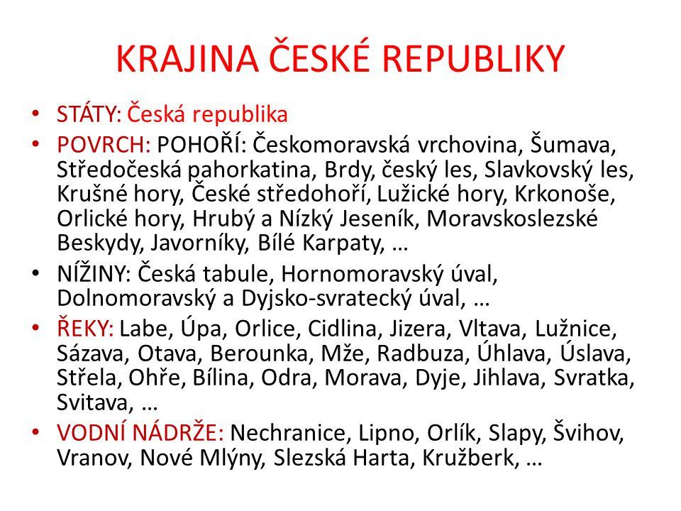 KRAJINA ČESKÉ REPUBLIKY