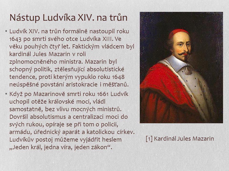 Nástup Ludvíka XIV. na trůn