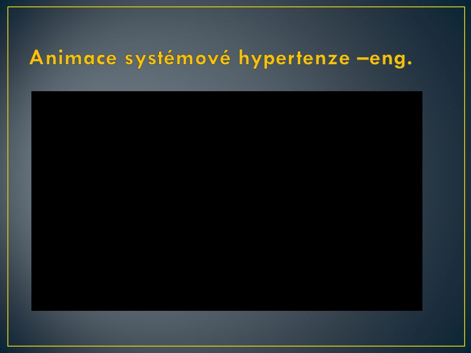 Animace systémové hypertenze –eng.