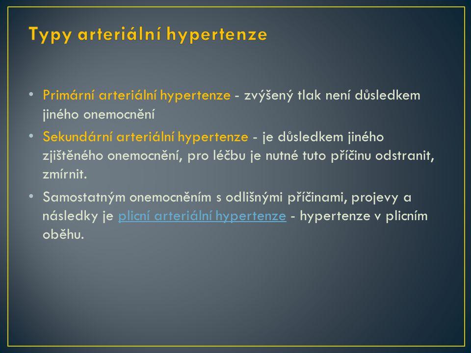 Typy arteriální hypertenze
