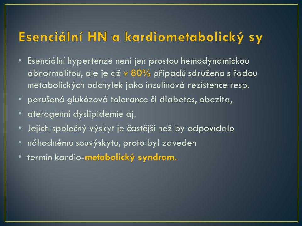 Esenciální HN a kardiometabolický sy