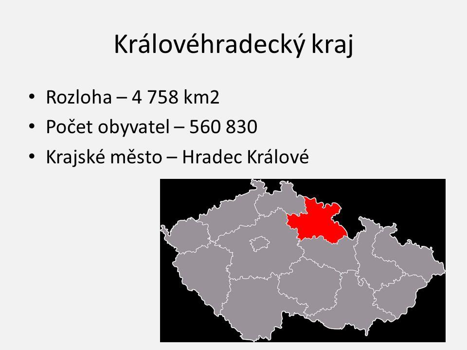 Královéhradecký kraj Rozloha – 4 758 km2 Počet obyvatel – 560 830