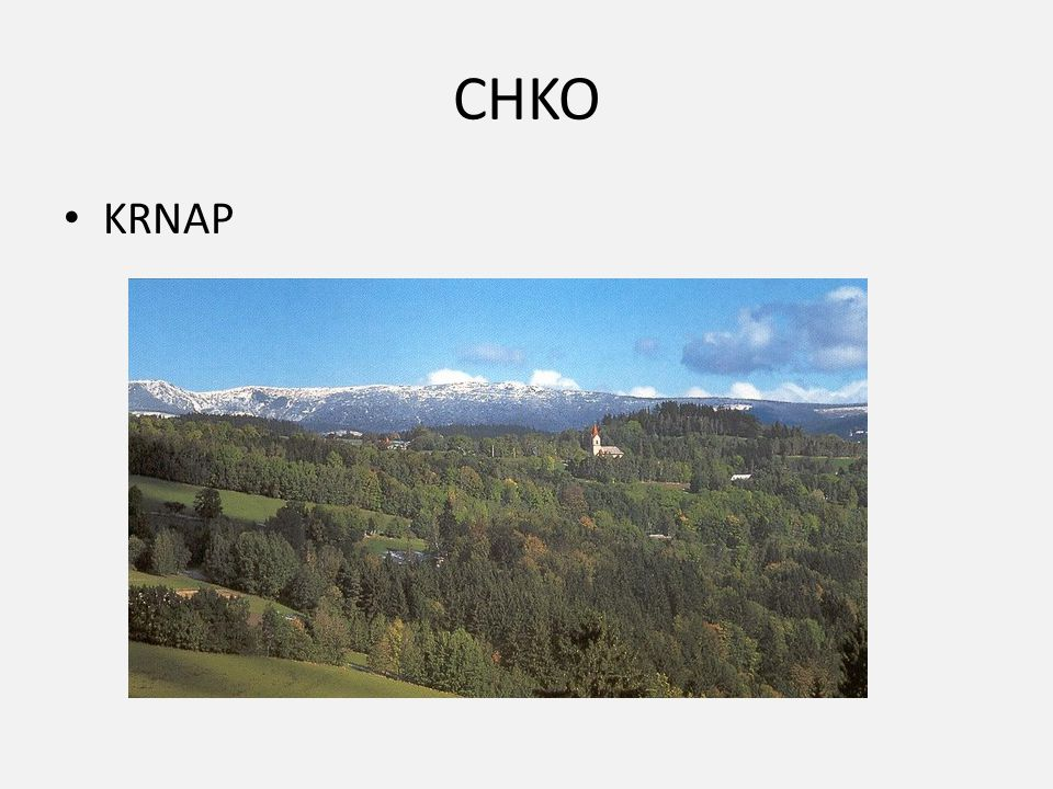 CHKO KRNAP
