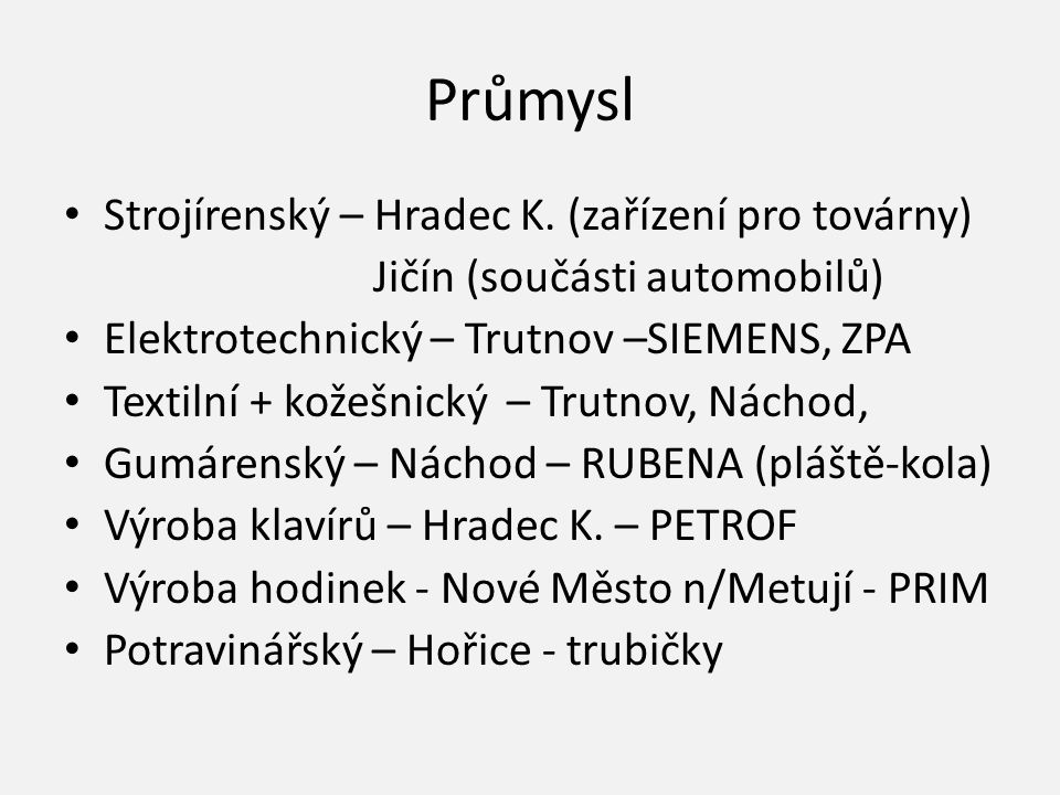Průmysl Strojírenský – Hradec K. (zařízení pro továrny)