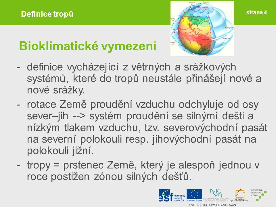 Bioklimatické vymezení