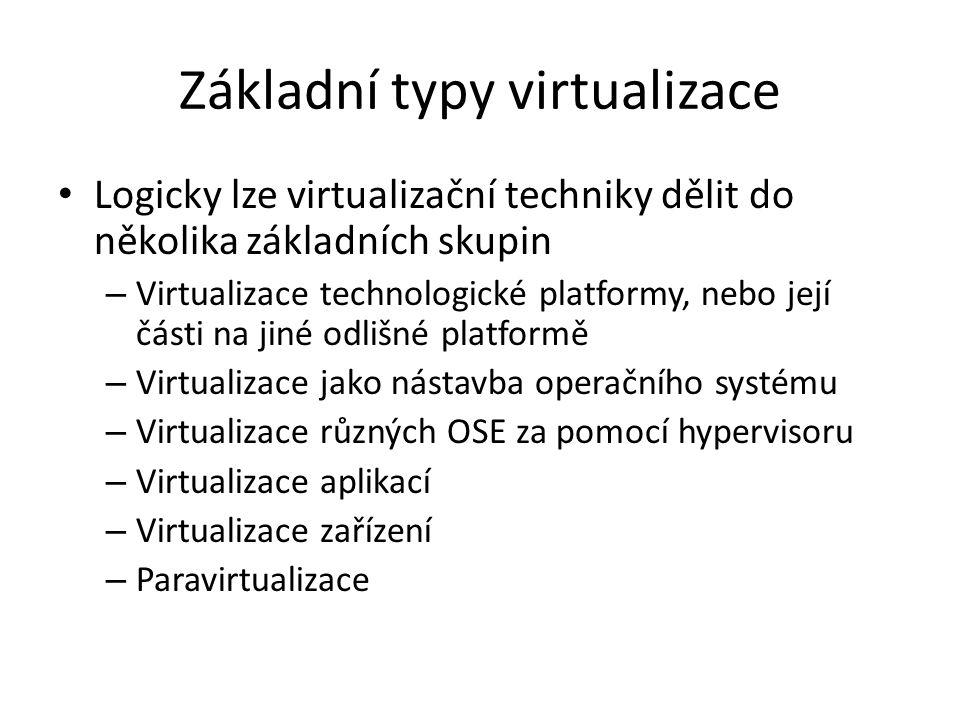 Základní typy virtualizace