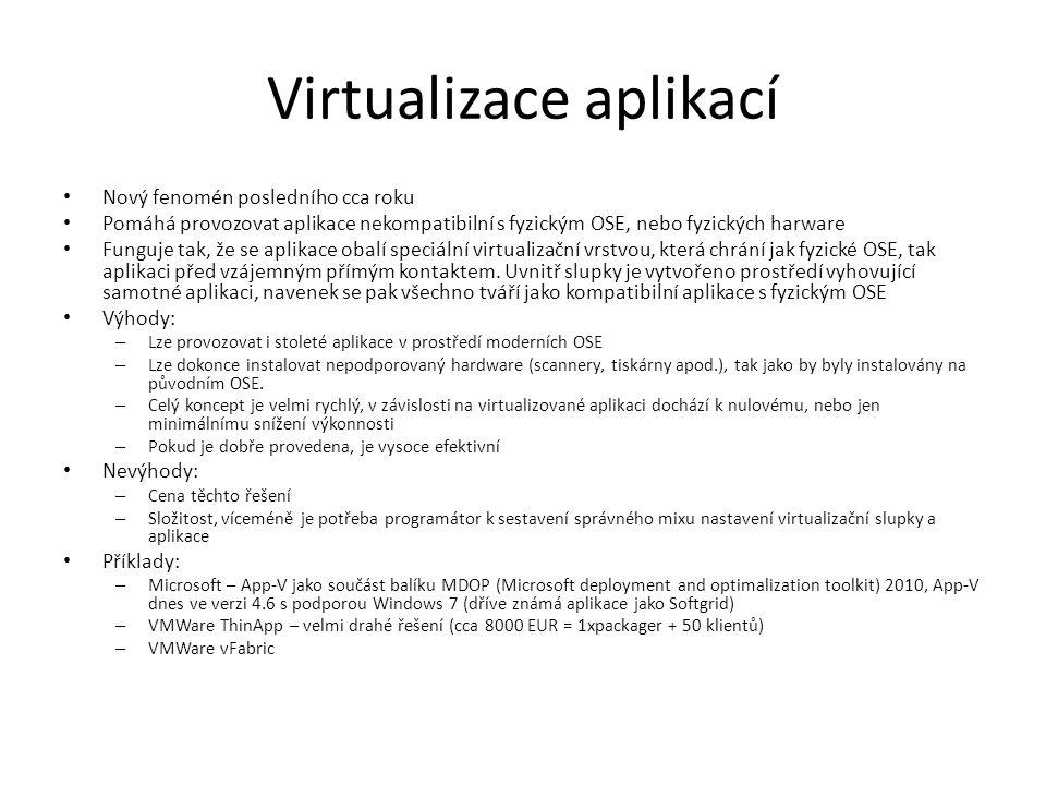 Virtualizace aplikací