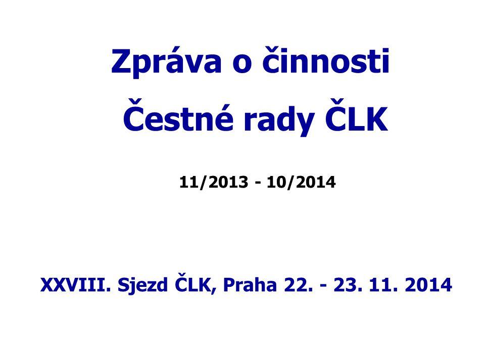 XXVIII. Sjezd ČLK, Praha 22. - 23. 11. 2014