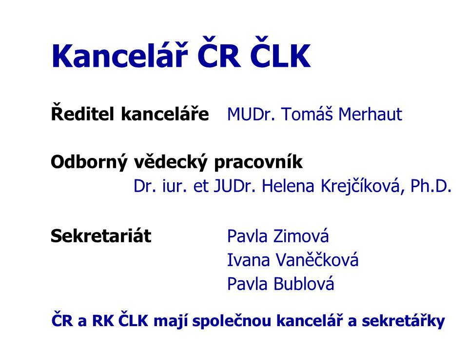 Kancelář ČR ČLK Ředitel kanceláře MUDr. Tomáš Merhaut