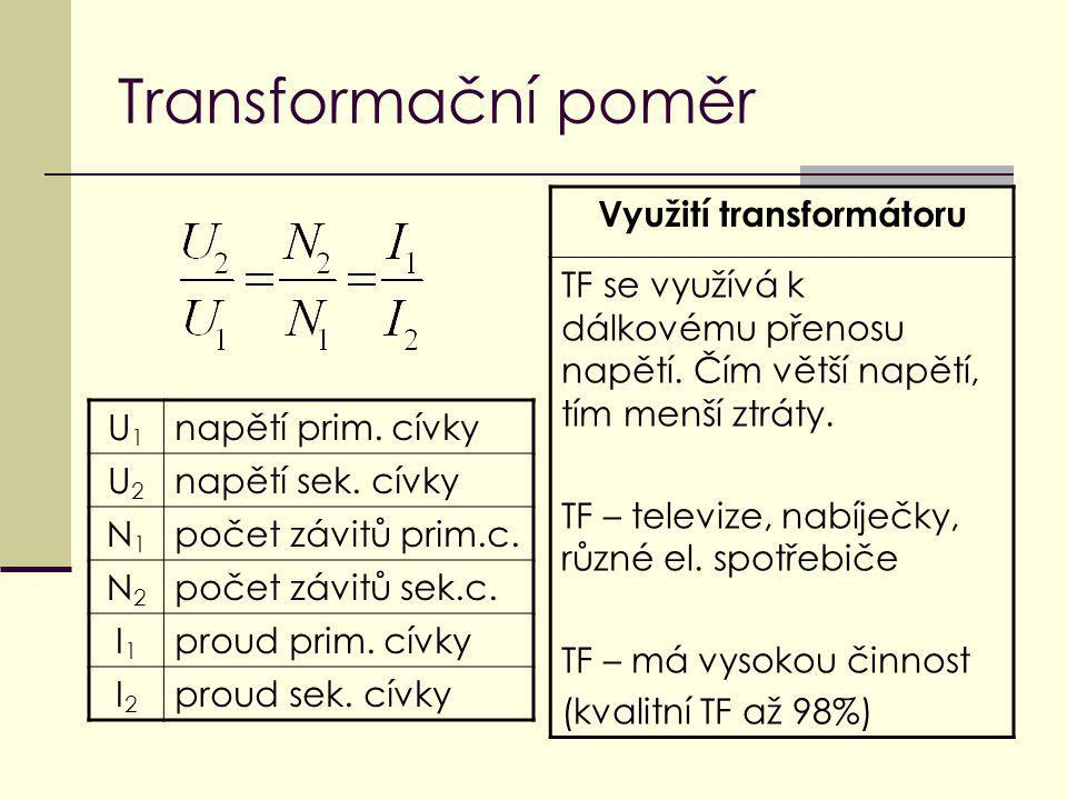 Využití transformátoru