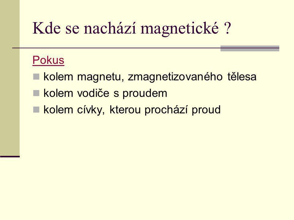 Kde se nachází magnetické