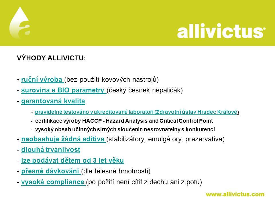 ALLIVICTUS léčivo pro vyvolené VÝHODY ALLIVICTU: