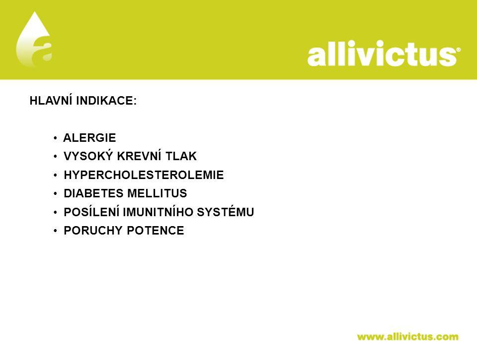 ALLIVICTUS léčivo pro vyvolené HLAVNÍ INDIKACE: ALERGIE