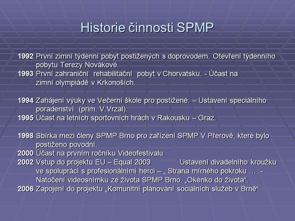 Historie činnosti SPMP