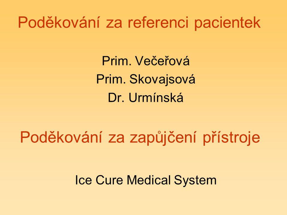 Poděkování za referenci pacientek