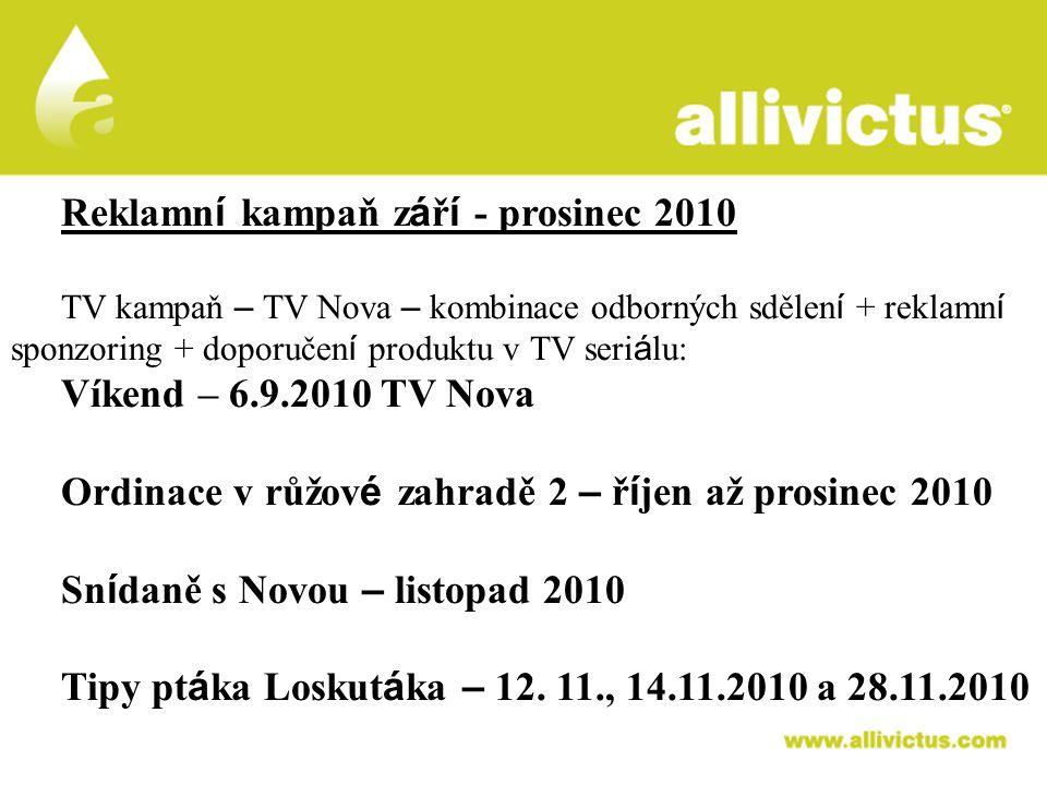 ALLIVICTUS léčivo pro vyvolené Reklamní kampaň září - prosinec 2010