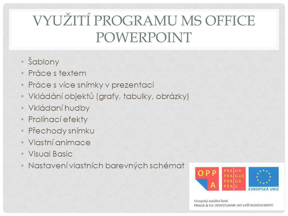 Využití programu MS Office Powerpoint