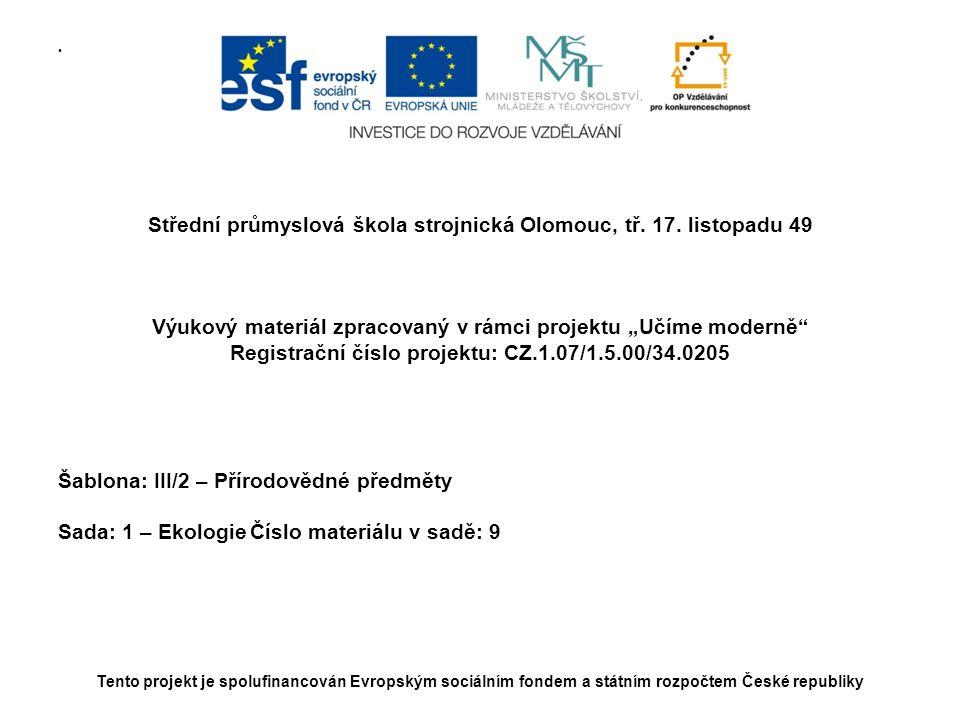 Střední průmyslová škola strojnická Olomouc, tř. 17. listopadu 49