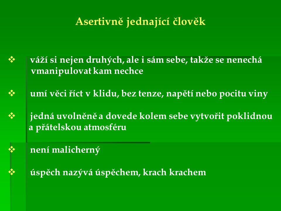 Asertivně jednající člověk