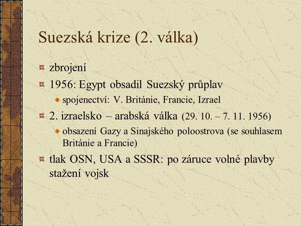 Suezská krize (2. válka) zbrojení 1956: Egypt obsadil Suezský průplav