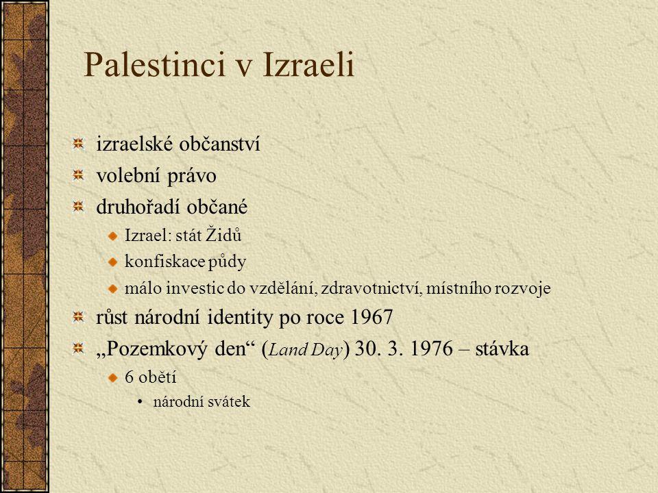 Palestinci v Izraeli izraelské občanství volební právo