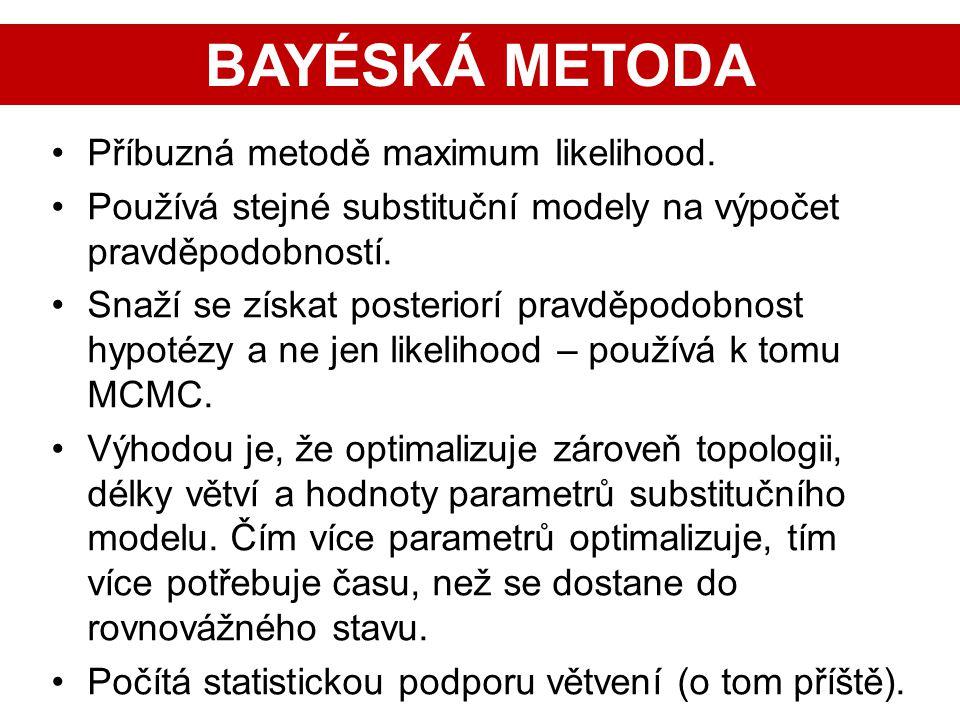 BAYÉSKÁ METODA Příbuzná metodě maximum likelihood.