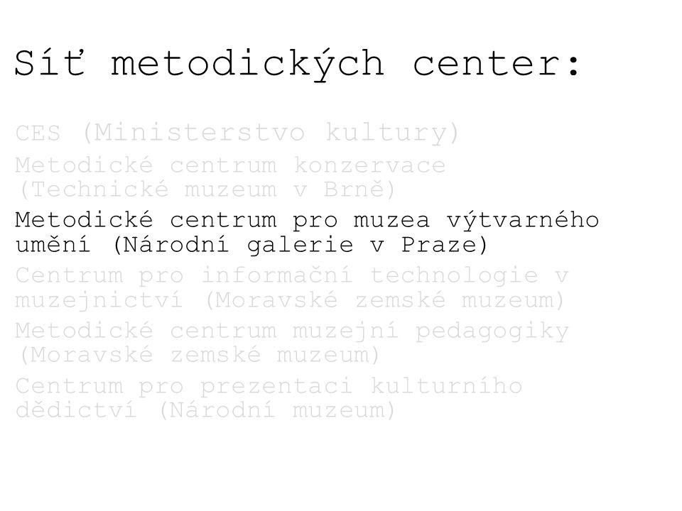 Síť metodických center: