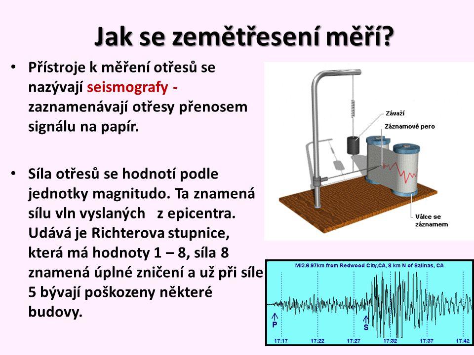Jak se zemětřesení měří