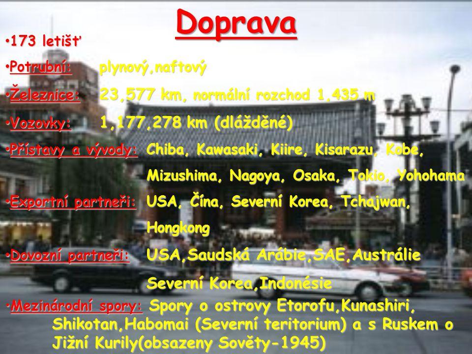 Doprava 173 letišť. Potrubní: plynový,naftový. Železnice: 23,577 km, normální rozchod 1,435 m. Vozovky: 1,177,278 km (dlážděné)