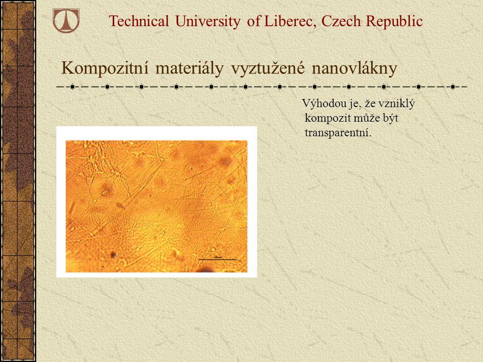 Kompozitní materiály vyztužené nanovlákny
