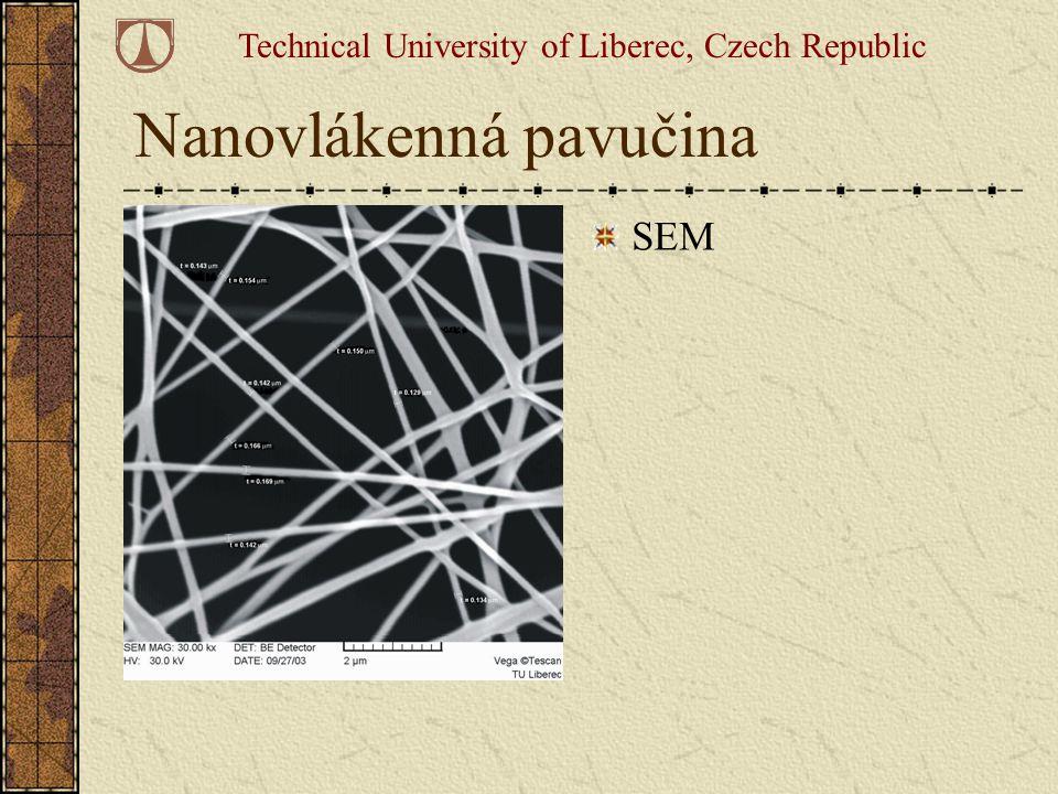 Nanovlákenná pavučina