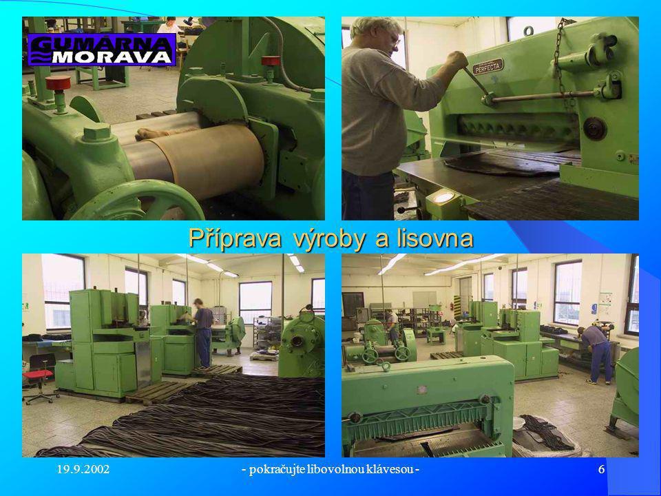 Příprava výroby a lisovna