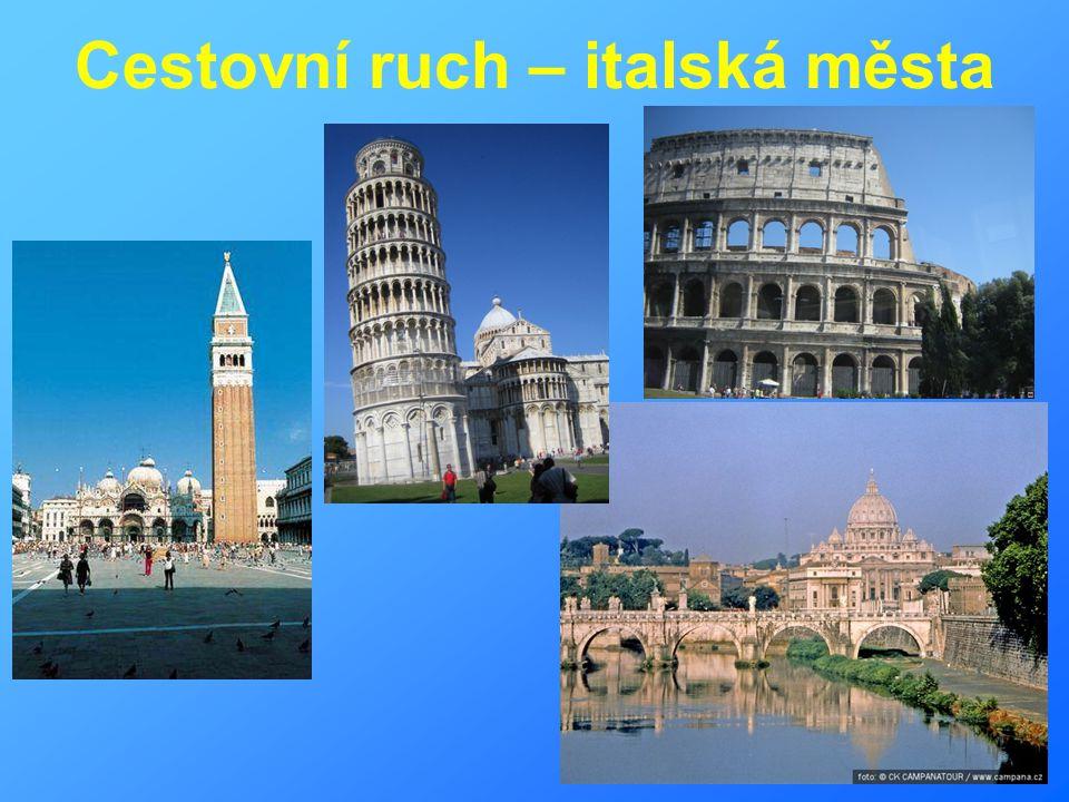 Cestovní ruch – italská města